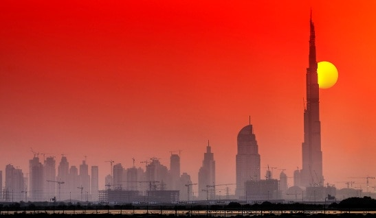 Tramonto a Dubai