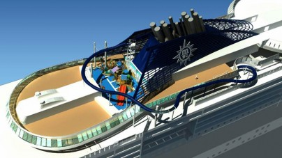 """A bordo di MSC Preziosa """"Vertigo"""", lo scivolo d'acqua più lungo mai installato su una nave da crociera"""