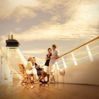 Guests Relaxing on Deck, Seabourn Cruises