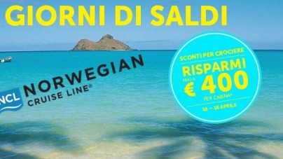 "Al via i ""7 giorni di saldi"" di Norwegian Cruise Line."