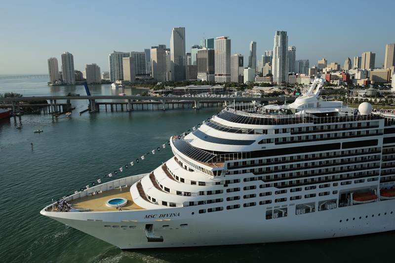 MSC Divina arriva a Miami!