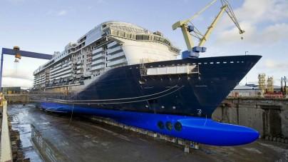 TUI Cruises e i cantieri STX Finland celebrano il varo tecnico della Mein Schiff 3