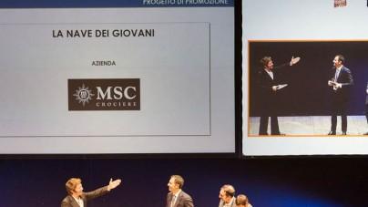 """MSC Crociere premiata per """"La nave dei Giovani"""" agli NC Awards"""