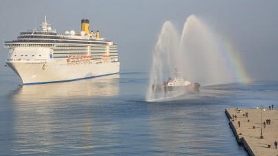 Costa Crociere inaugura la stagione 2015 da Trieste con il primo scalo di Costa Mediterranea