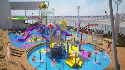 """Royal Caribbean: a bordo di Harmony of the Seas lo """"Splashway Bay"""", un nuovo parco acquatico interattivo per bambini"""