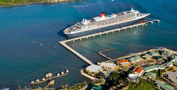 Maiden Call per Queen Mary 2 ad Amber Cove