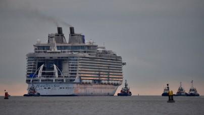 Prime prove in mare aperto per la nave da crociera più grande al mondo, Harmony of the Seas