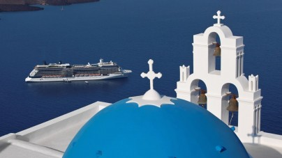 Santorini, SOS inquinamento atmosferico. Sotto accusa le navi da crociera