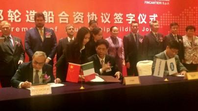 Fincantieri e CSSC creano in Cina un nuovo polo della crocieristica