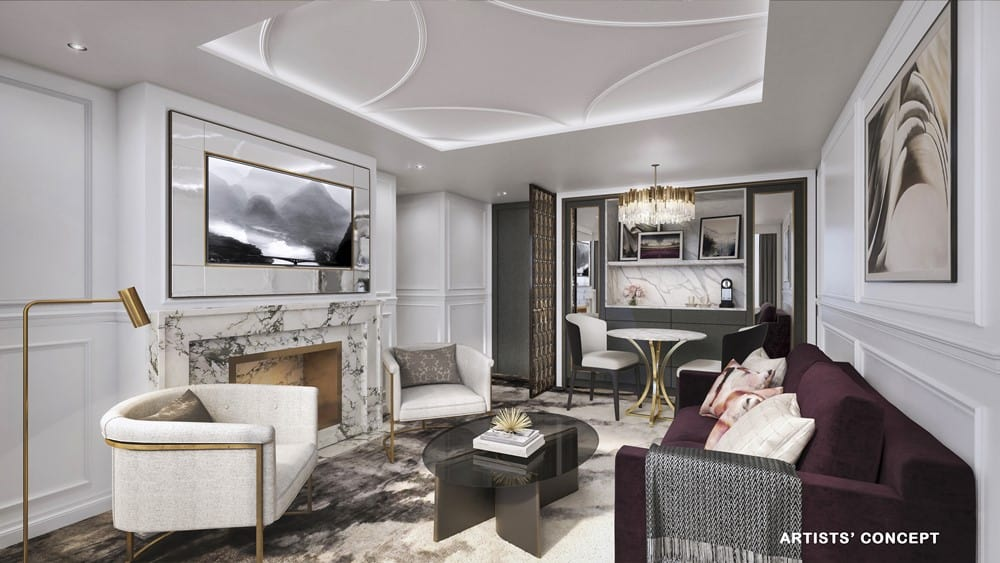CRYSTAL CRUISES, cie de Luxe de Genting HK Penthouse-Living-Room-Bach-Debussy-Mahler-