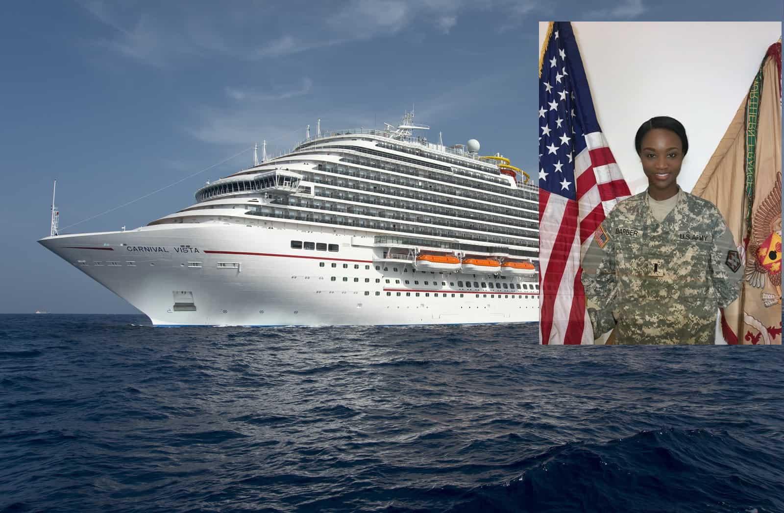 Militare E Miss Usa Deshauna Barber Madrina A New York Del Battesimo Di Carnival Vista Dream