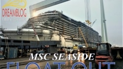 MSC Seaside, il float out. Speciale diretta web da Monfalcone