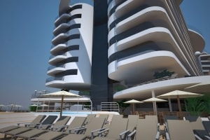 Beach condo design featuring panoramic lifts