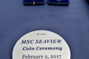 Coin Ceremony MSC Seaview