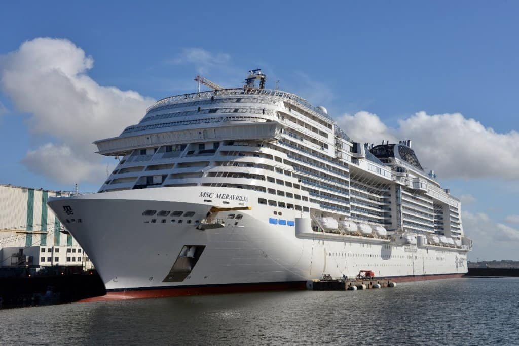 MSC Meraviglia will be christened in Le Havre, France, June 3 2017