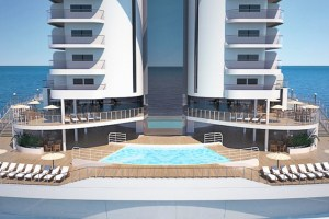 MSC Seaside features a beach condo design