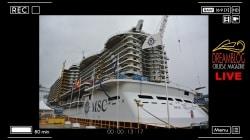 Visita a bordo di MSC Seaside e Coin Ceremony per MSC Seaview: speciale diretta web da Fincantieri Monfalcone