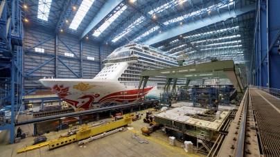 Meyer Werft, pronta al float out Norwegian Joy (喜悦号). Sarà la prima nave NCL destinata al mercato asiatico