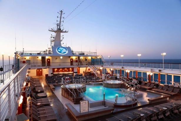 Azamara Club Cruises, pool_deck_sunrise_horizontal