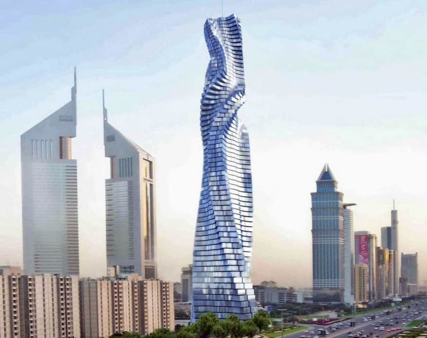 Nel 2020 a Dubai il primo grattacelo rotante al mondo