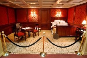 Titanic, la ricostruzione di una cabina di prima classe