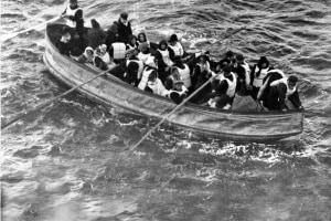 Una delle scialuppe di salvataggio