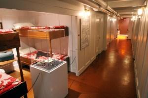 Titanic, la ricostruzione di una cabina di terza classe