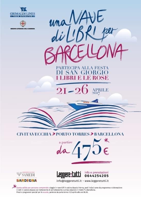 Una nave di libri per Barcellona, Leggere Tutti, Grimaldi Lines