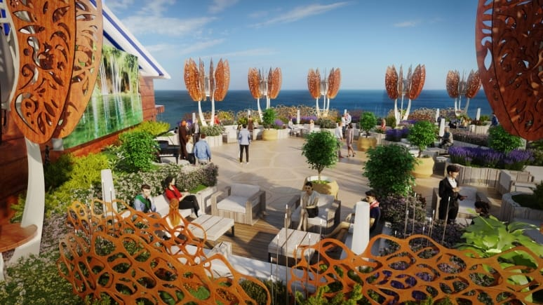 celebrity edge roof top day