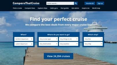UK, startup lancia CompareThatCruise.com, il primo sito di confronto crociere