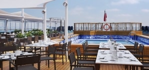 Cunard: i primi rendering del progetto di restyling di Queen Victoria. A maggio i lavori in bacino Fincantieri di Palermo