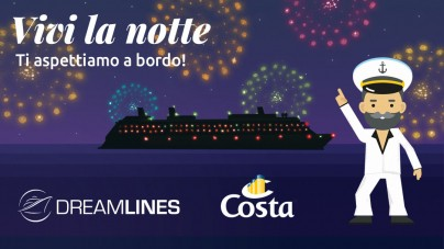 Save the date: al via a maggio #Vivilanotte, una notte gratis a bordo di Costa Fascinosa con Dreamlines Crociere