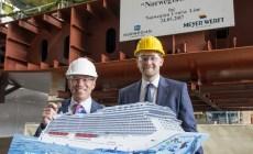 Meyer Werft: a Papenburg la cerimonia di posa della chiglia della Norwegian Bliss