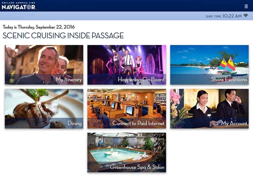 Da Holland America Line La Nuova Web Application Navigator Dream Blog Cruise Magazine