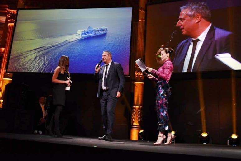 Roberto Patrizi nel corso della cerimonia - Italia Travel Awards, Moby Lines