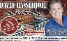 David Hasselhoff, il Michael Knight di Supercar, a novembre a bordo di Costa Favolosa per la sua prima crociera dei fan