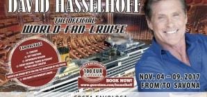 David Hasselhoff, il Michael Knight di Supercar, a novembre a bordo di Costa Favolosa per la sua prima crociera dei fan