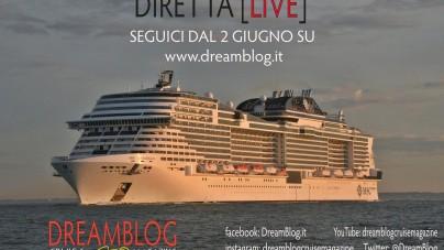 Il debutto di MSC Meraviglia: live da Le Havre