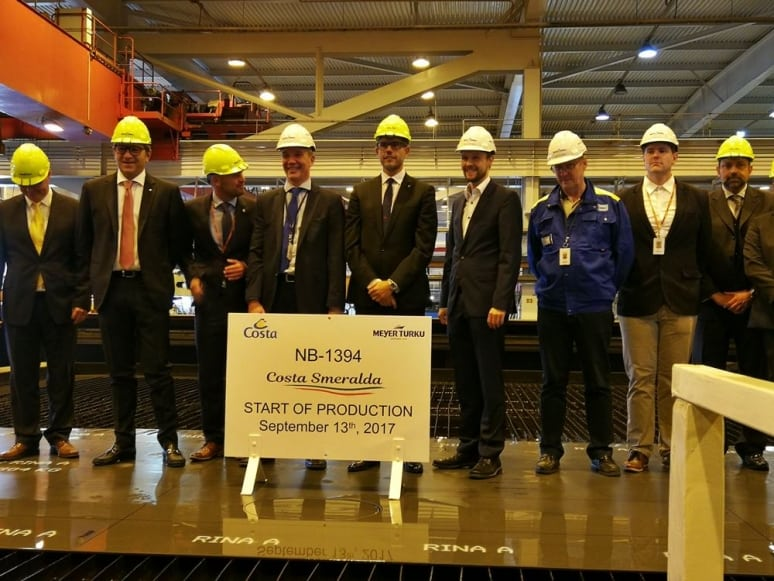 Steel Cutting Ceremony Costa Smeralda, Costa Crociere