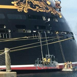 Disney Dream: collisione con il molo di Nassau