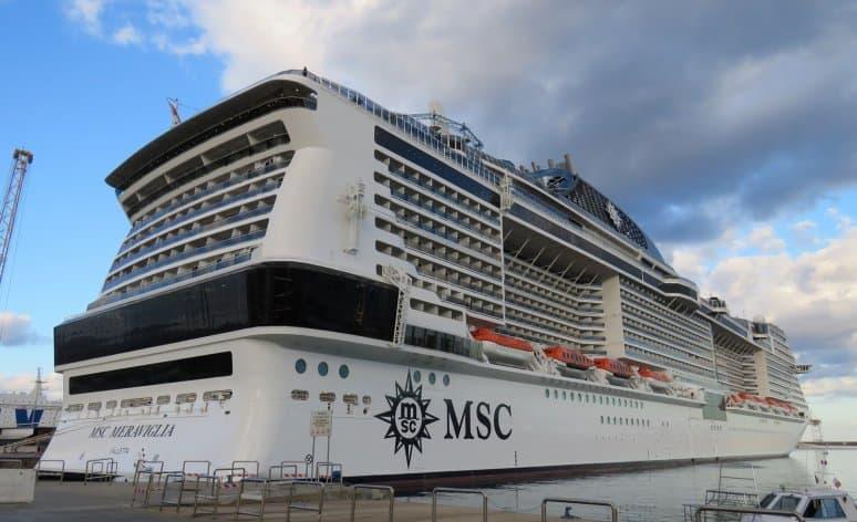 MSC Meraviglia, porto di Palermo