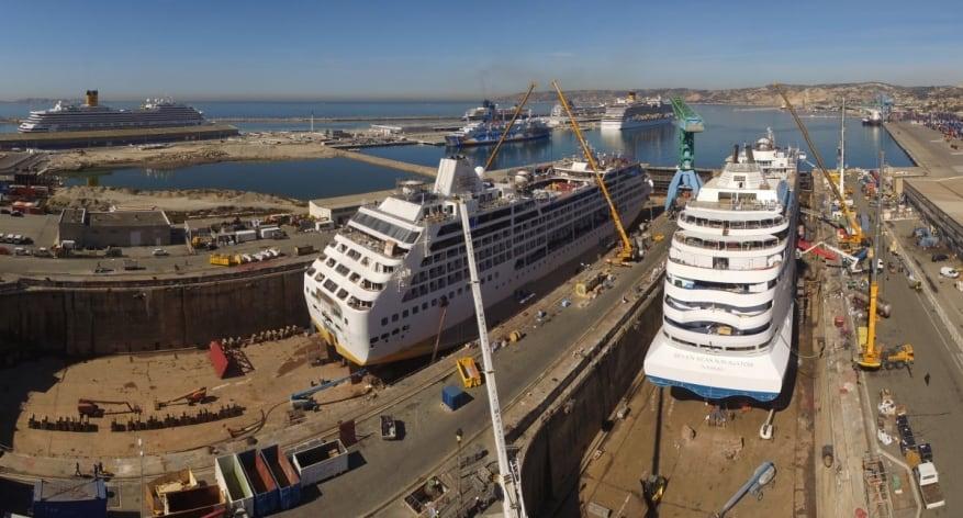 Inaugurato al Chantier Naval di Marsiglia il nuovo maxi bacino di carenaggio