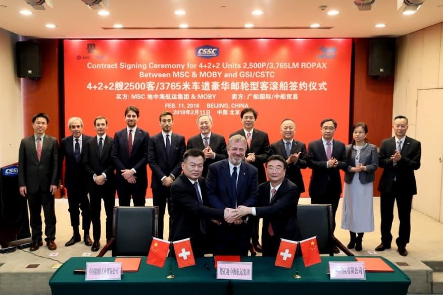 MSC Group – Onorato, ordine in Cina per 4 traghetti di lusso