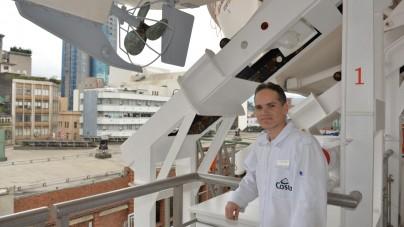 Il primo volontario di Mercy Ships a bordo di una nave del gruppo Costa