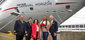 New York accoglie la nuova Carnival Horizon. Queen Latifah madrina della cerimonia di battesimo