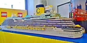 Costa Diadema in mattoncini: oltre 124.000 pezzi in mostra a Exhibricks a Genova il 23 e 24 giugno