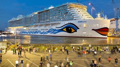 AIDA Cruises: al via questa mattina il trasferimento di AIDAnova sul fiume Ems