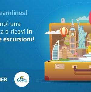 Esclusiva Dreamlines: fino a fine mese pacchetto escursioni gratuito con le crociere Costa