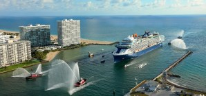 Port Everglades in festa per l'arrivo in grande stile della nuova Celebrity Edge