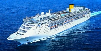 """Costa Victoria e la sua originalita', unica nella flotta """"C""""."""